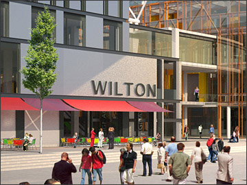 3d Artist's impressions of proposed redevelopment of Wilton Shopping Centre